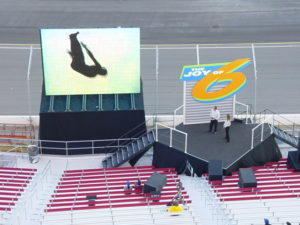 Mazda Joy of 6 reveal ride and drive setup at Las Vegas Motor Speedway 2002.