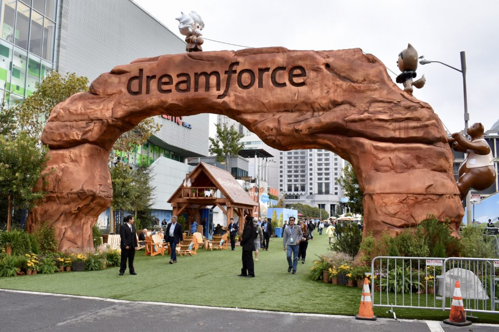 Dreamforce 2017 Dream Valley on Howard Street San Francisco during show.